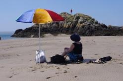 thinking on the beach