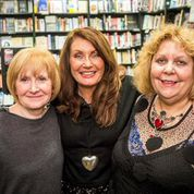June, Adrienne and Lizzie at the Waterstones Author Showcase (Unfortunately Mags Cullingford was recovering from knee surgery and couldn't join them)