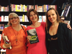 At my launch with lesley and sinnet